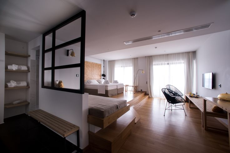 #suite #seaview #hotelroom #interiordesign #openplan #minimal #design #sundaymood #sundayboutiquehotel #greekhotel Ph by K. Sofikitis