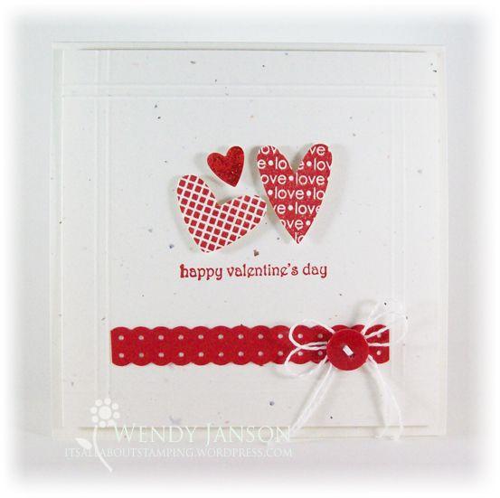 cute little handmade valentine card