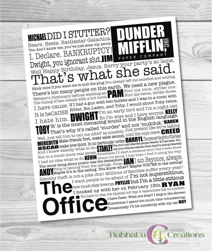 The Office Artwork. Digital Download. The Office. Subway Art. The Office TV Show. The Office Decor. The Office Show Frame. The Office Quotes by BubbaLuCreations on Etsy