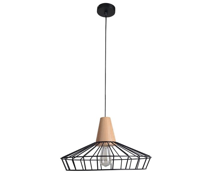 Reuben Coolie Pendant in Ash/Black