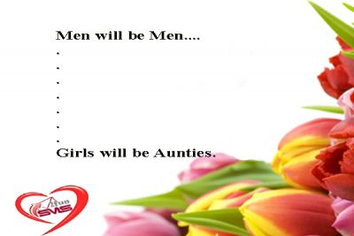 Friendship SMS about Men will be Men