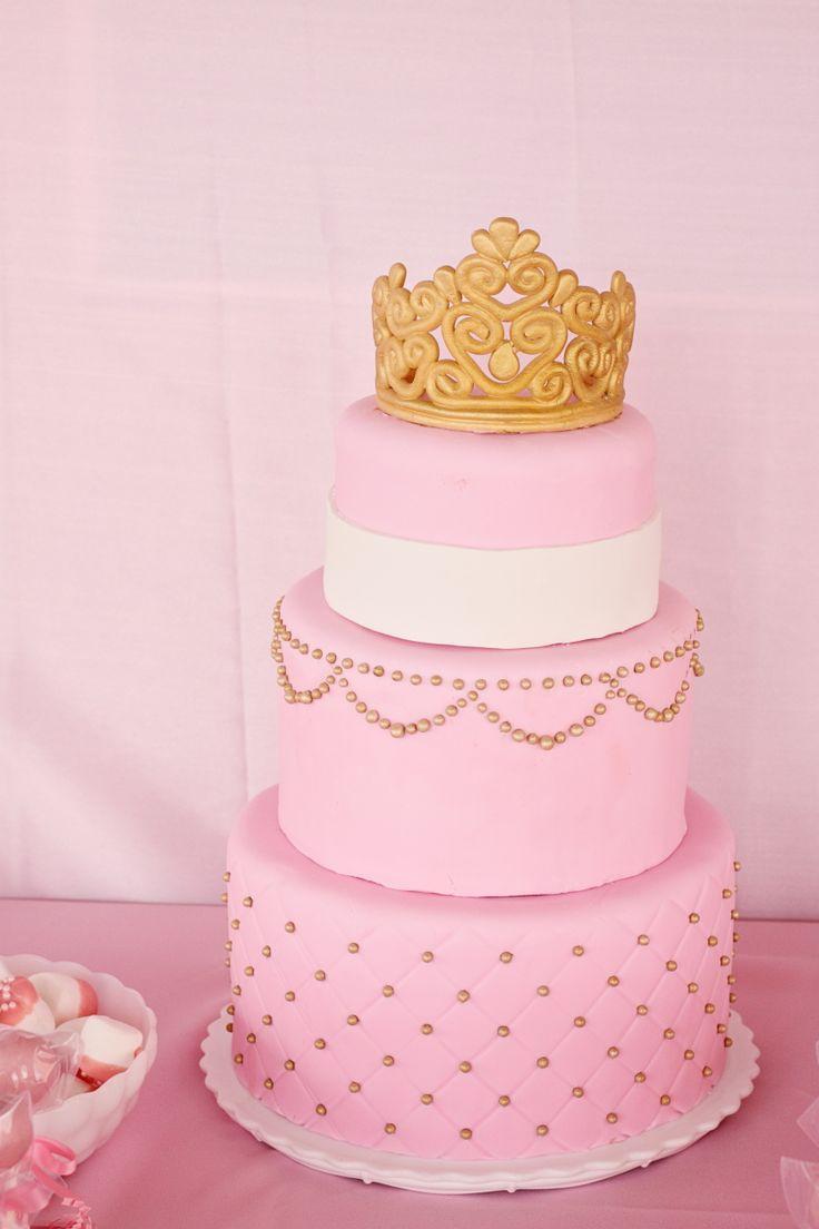 My Princess Cake My Baby Shower Pink Gold White