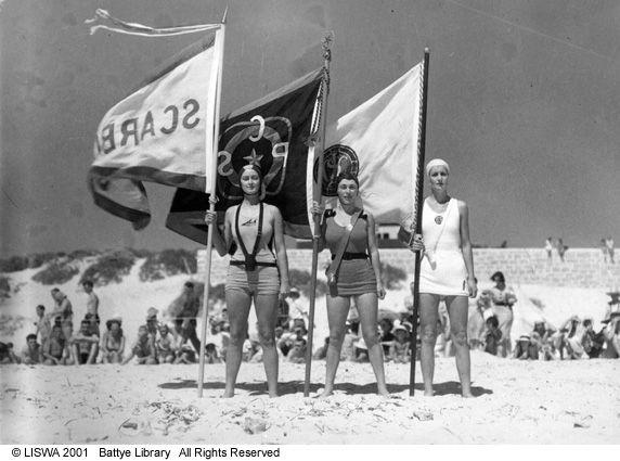 Women surf life savers at a carnival 23 Jan. 1938
