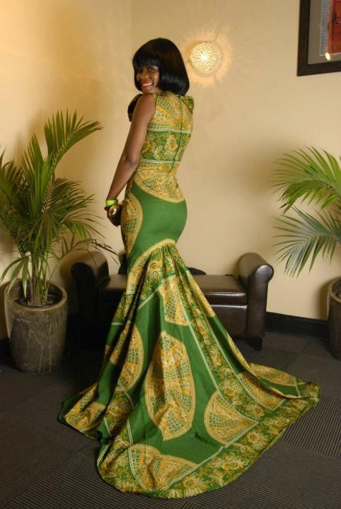Rocking Ankara! I could not eat for 3 weeks trying to rock the beautiful dress. Lol