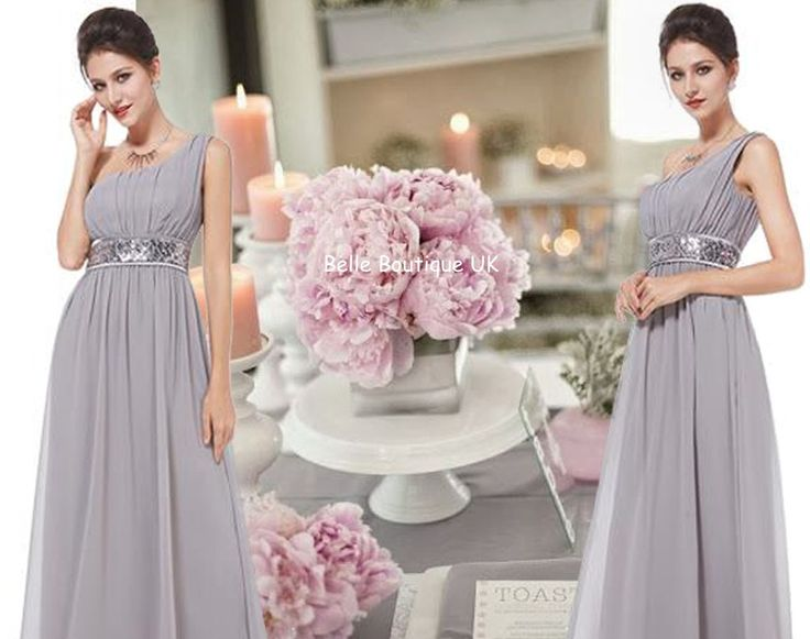 RACHEL Long Dress -  Silver Grey