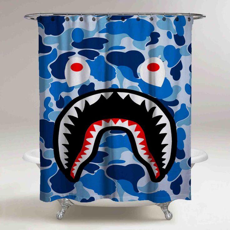 "Best Cheap Blue Bape Shark Custom Shower Curtain High Quality 60""x72"" #Unbranded #fashion #Style #custom #print #pattern #modern #showercurtain #bathroom #polyester #cheap #new #hot #rare #best #bestdesign #luxury #elegant #awesome #bath #newtrending #trending #bestselling #sell #gift #accessories #fashion #style #women #men #kid #girl #birthgift #gift #custom #love #amazing #boy #beautiful #gallery #couple #bestquality #sharkbape #bape #goyard"