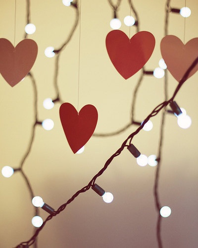 hearts and lights