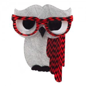 Erstwilder Waldo the Wacky Owl Brooch (New Version) #Colectable #retro #resin #designer