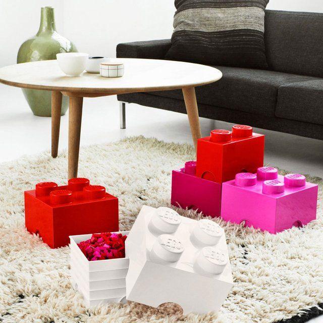 Lego Square Storage Brick #Brick, #Lego, #Storage