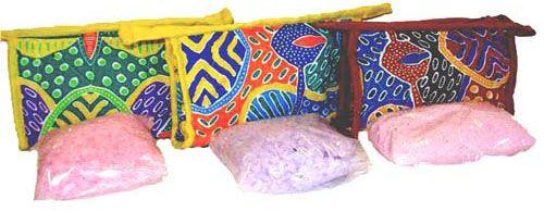 Natural Bath Crystals Giftbag (3 various designs/colours) $10.00 SPECIAL 3 for $28.00