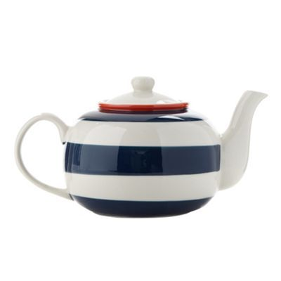 J by Jasper Conran Designer stoneware striped painted teapot- at Debenhams.com