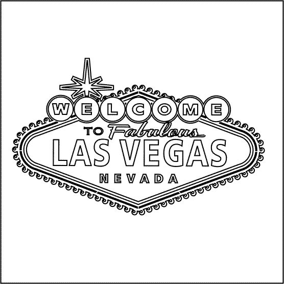 Template for a Las Vegas Welcome Sign