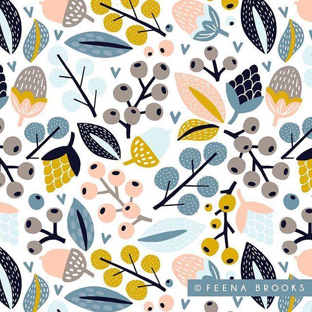 Surface pattern design by Feena Brooks \\ feenabrooks.com