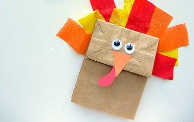 brown paper bag turkey craft - Google Search