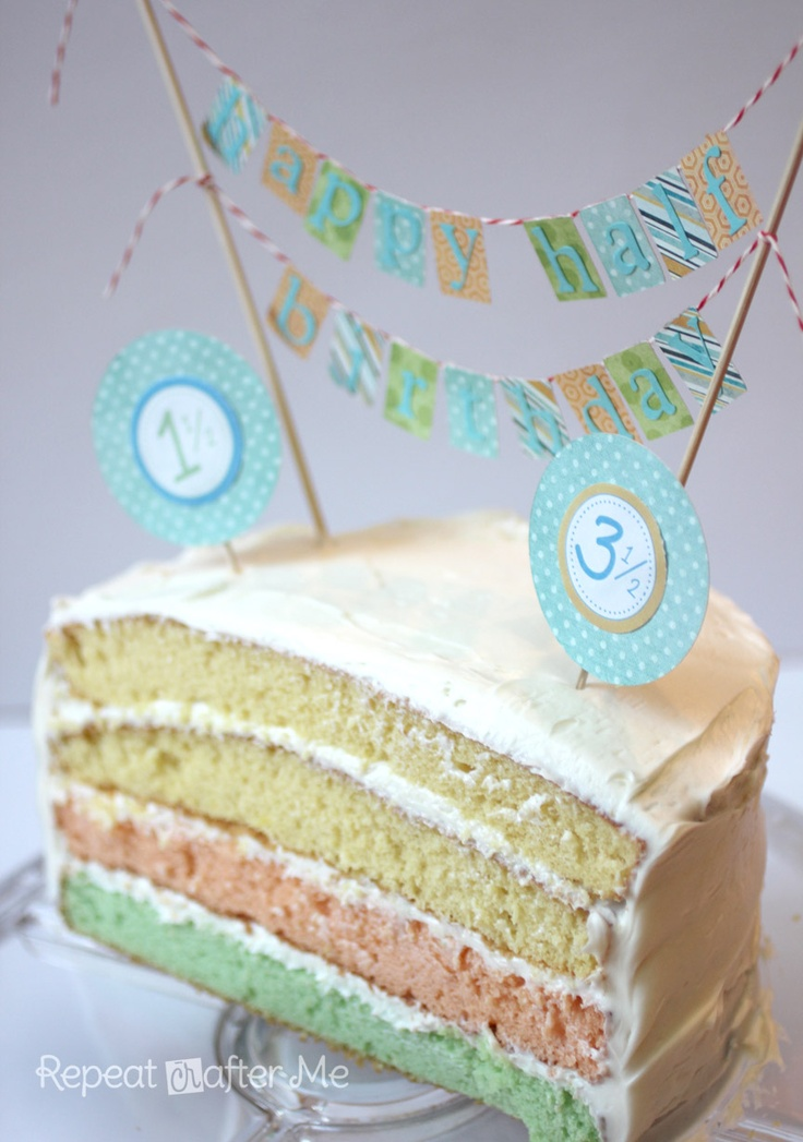 35 best Half Birthday images on Pinterest Half birthday