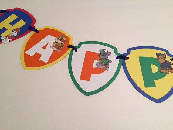 Hey, I found this really awesome Etsy listing at https://www.etsy.com/listing/217213360/paw-patrol-birthday-personalized-banner