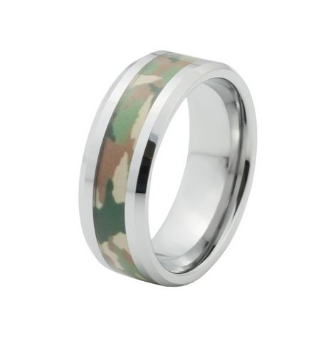 June 26 - Green Camo Tungsten Ring for Men, $135.00 (http://www.june26.ca/green-camo-tungsten-ring-for-men/)
