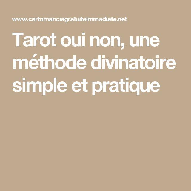 Tarot oui non, une méthode divinatoire simple et pratique