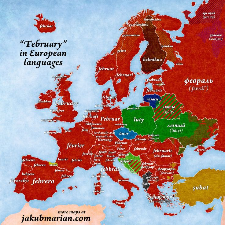 The English word February comes from Latin