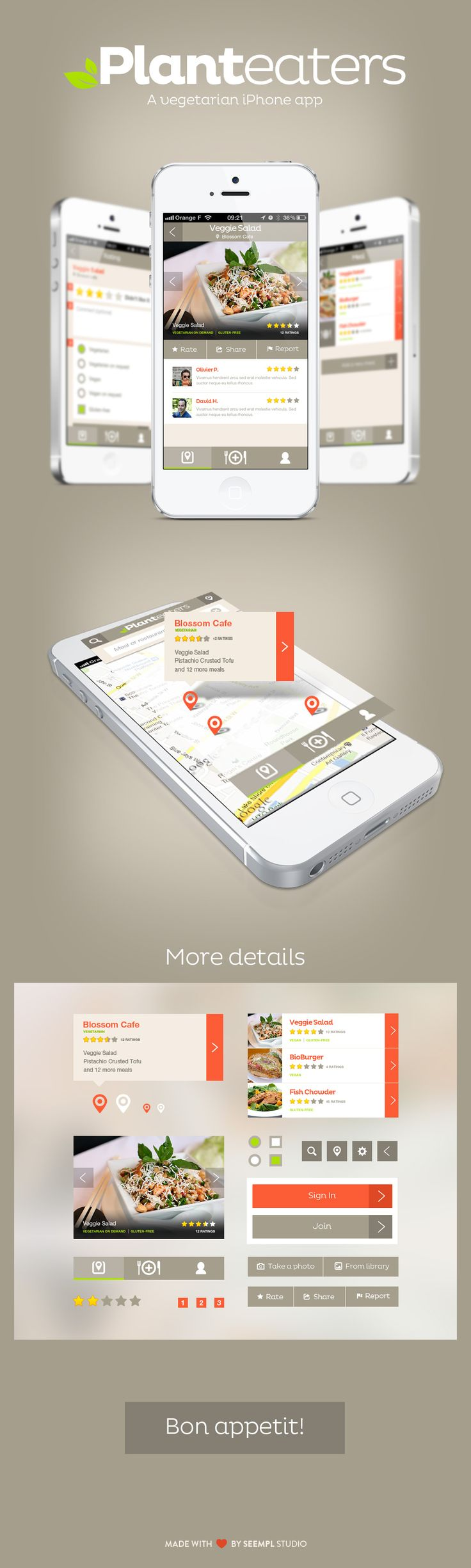 Planteaters #food #app #iphone #inspiration #ux
