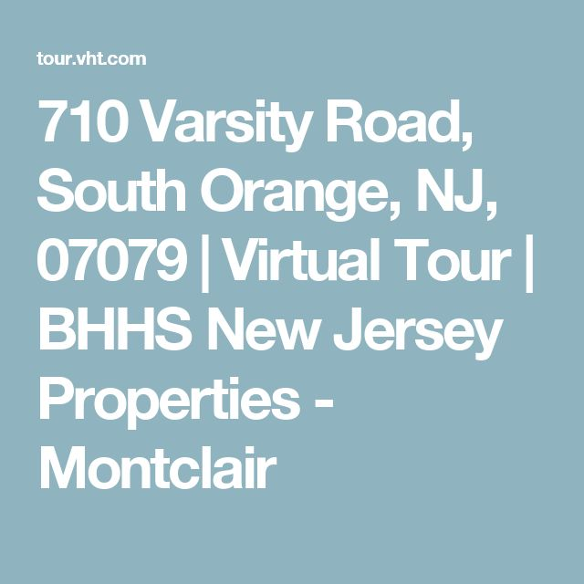 710 Varsity Road, South Orange, NJ, 07079 | Virtual Tour | BHHS New Jersey Properties - Montclair