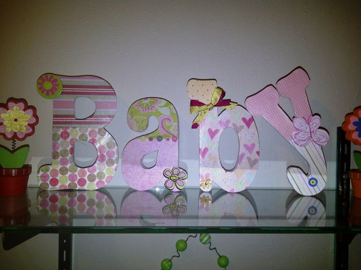 How To Decorate Wooden Letters For Nursery: 17 Best Ideas About Decorate Wooden Letters On Pinterest