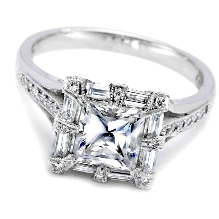 35 best Princess Cut Diamond Engagement Rings images on Pinterest ...
