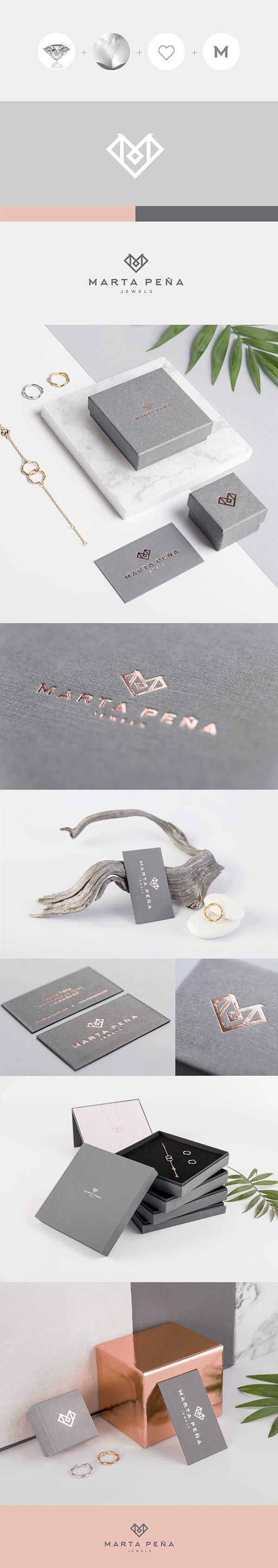 identity, cards, packaging, logotype, metallic, gold, pink, jewels