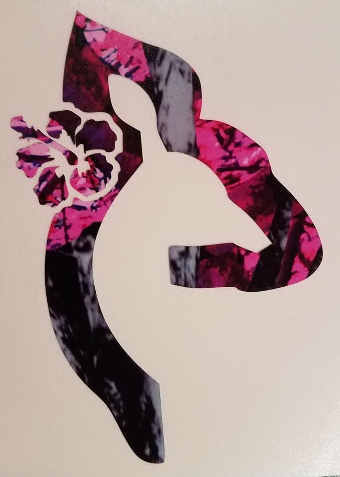 Muddy Girl Vinyl Decal In Muddy Girl Camo 5.5/'/'W Truck//Car