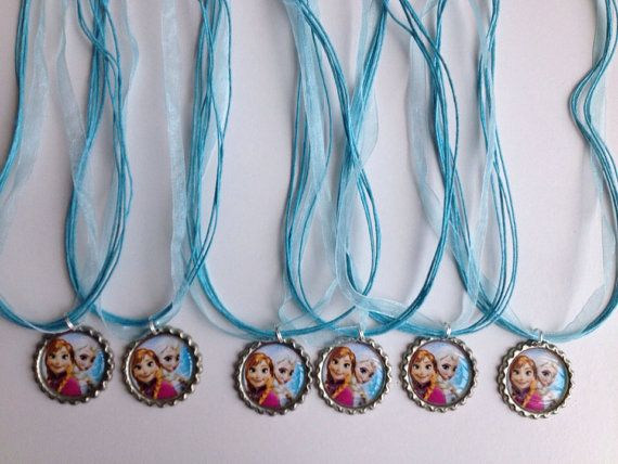 Frozen party favor necklaces..frozen by GirlzNGlitter on Etsy, $12.00