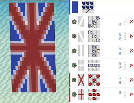 схемы дя флагов в майнкрафте #8