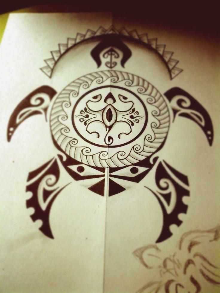 черепаха Полинезийское Тату  Polinesian tattoo татуировка в стиле полинезия
