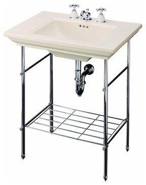 Pedestal Sink With Legs And Towel Bar Memoirs Table Legs Traditional Bathroom Vanities And Sink
