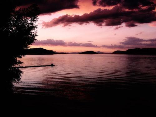 Klamath Lake at sunset, Oregon. I miss my hometown. I want to be back in Oregon!