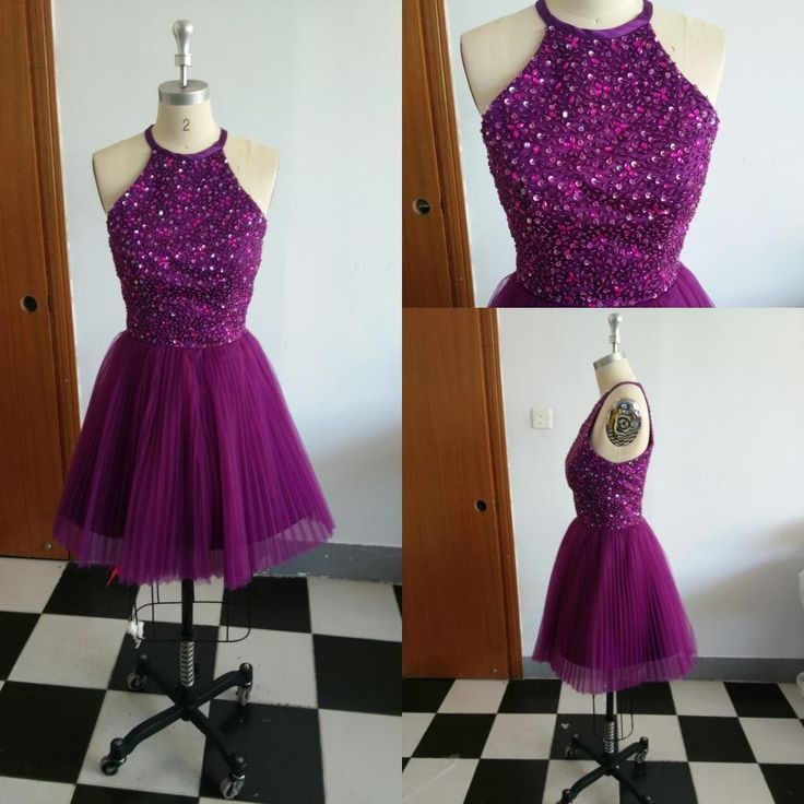Backless Evening Dresses Uk 2016 Real Sample Purple Beaded Prom Gown Homecoming Party Dresses Royal Blue Evening Dresses With Halter Neckline New Cheap Custom Made Black Evening Maxi Dress From Cc_bridal, $83.77| Dhgate.Com