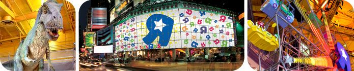 """Since its grand opening in November 2001, Toys""""R""""Us® Times Square has occupied a special position in the heart of New York City as one of the Big Apple's top tourist attractions, welcoming hundreds of thousands of kids each year."""