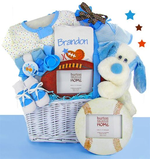 459 best baby gifts and baskets handmade in the usa images on all star sport personalized gift basket boy negle Image collections