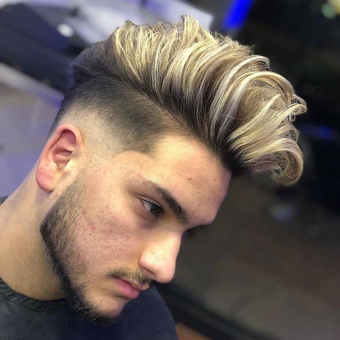 1001 Idees Meche Blonde Pour Homme Une Question De Dosage Coiffure Homme Meches Blondes Cheveux Homme