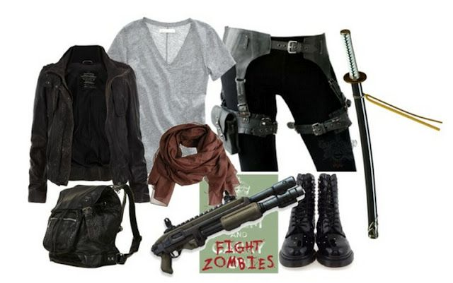 Zombie Apocalypse survival tips on my blog. What to wear, what to bring and etc.     Geek overload!