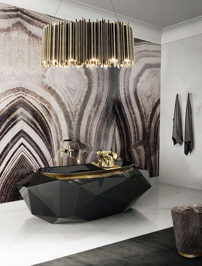 Dark indulgence - Diamond Bathtub * View more at http://www.maisonvalentina.net/en/products/bathtubs/diamond-bathtub/ #amazingbathrooms #luxurybarhrooms