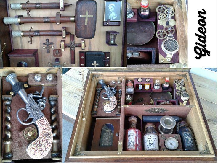 vampire hunting kit, made by gideon, gide-sign artworks