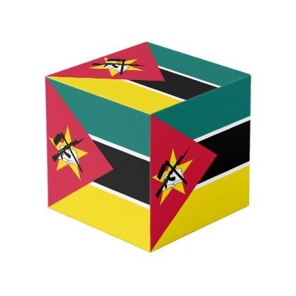 Mozambique Flag Cube - cyo diy customize unique design gift idea