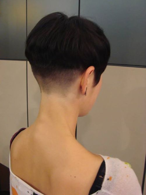 Shaved nape and neckline was boring