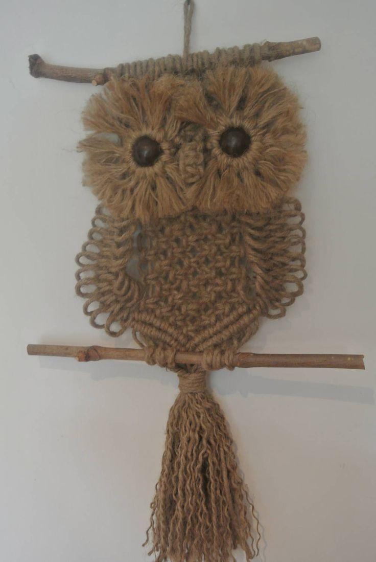Owl Macrame Pattern에 대한 이미지 검색결과 Pprtamacetero De