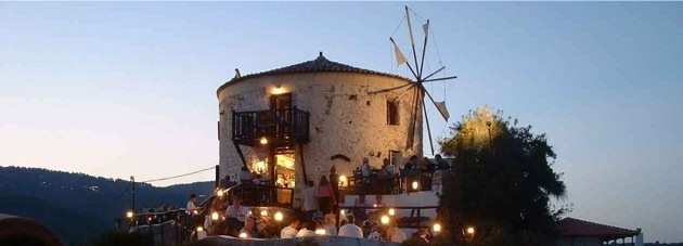 The Windmill Restaurant Skiathos Greece - one of the most wonderful places I've eaten