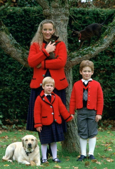 Princess Michael of Kent with her children Lord Frederick Windsor and Lady Gabriella Windsor,