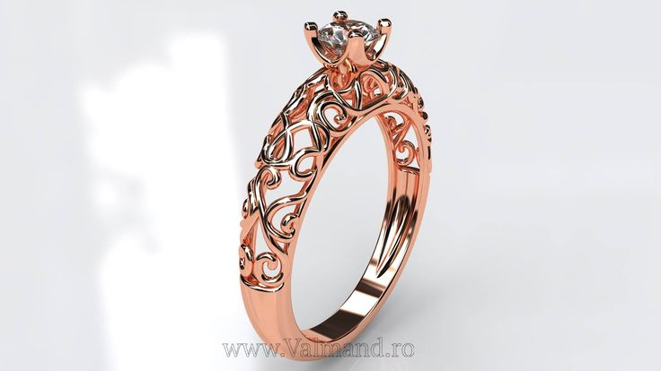Inel de logodna din Aur cu diamant II Cod produs: I803