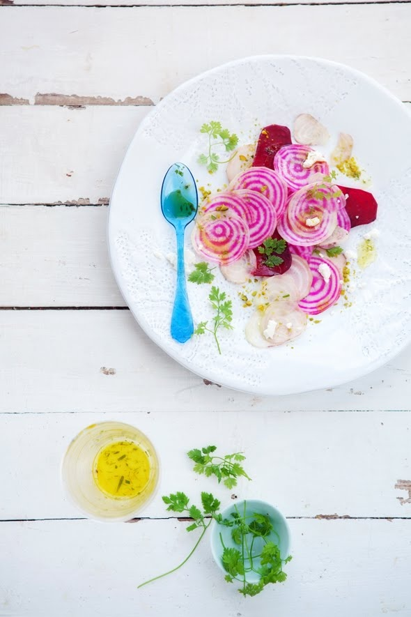 beetroot salade with goat cheese
