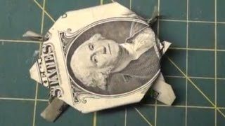 Dollar Origami - How To Make an Origami Turtle from a Dollar Bill Tutorial Money, via YouTube.