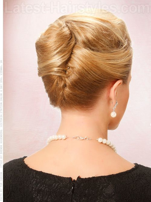 Simple French Twist Hairstyle Back View